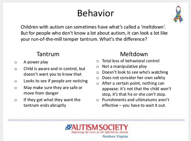 behaviorism and tantrums